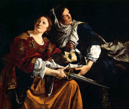 (above, Artemisia Gentileschi version, 1612). Judith