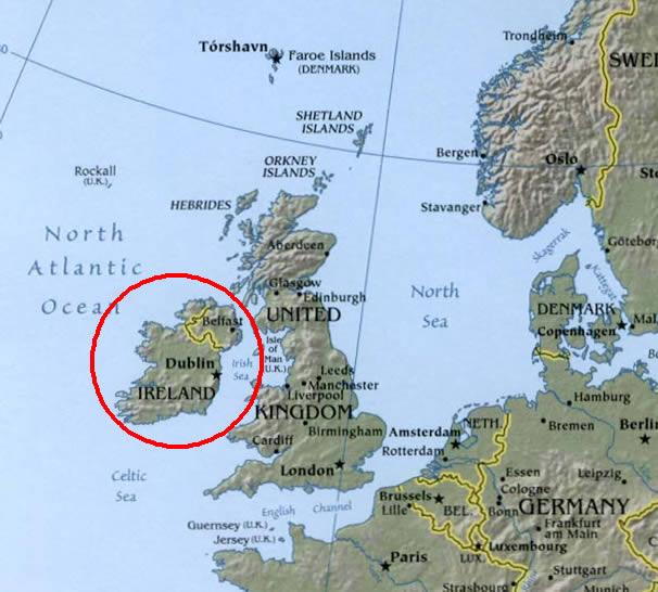 Maps Of IndoEuropean LanguagesIrish Gaelic - Irish language map